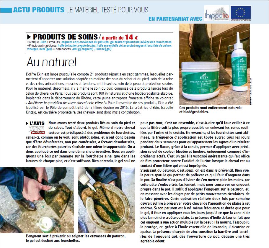 Cheval Pratique EK1N Gel Fourchette