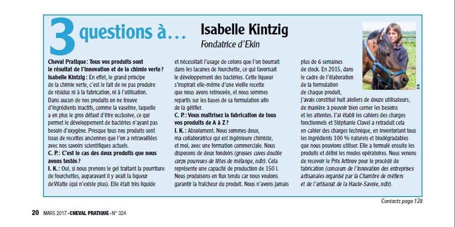 Cheval Pratique EK1N Questions